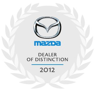 Bank Street Mazda dealer of distinction award 2012