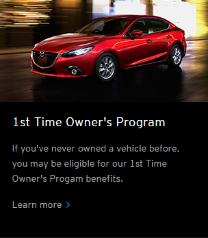 Mazda 1st Time Buyer Program